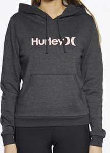 Hurley Youth One & Only Fleece Pullover - Black Heather