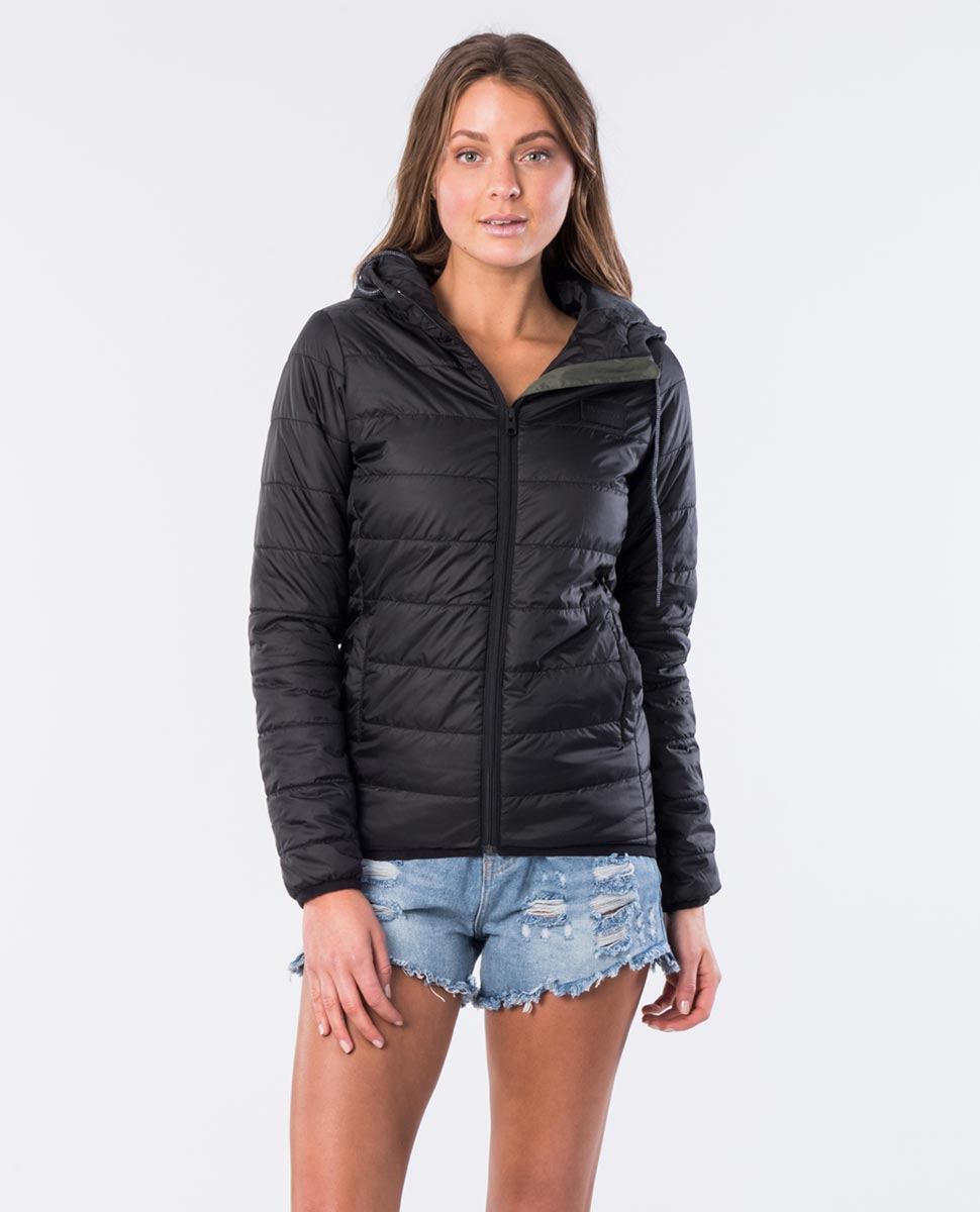 Rip Curl Ladies The Search II Puffer Jacket - Black