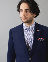 Load image into Gallery viewer, James Harper Navy Corduroy Blazer