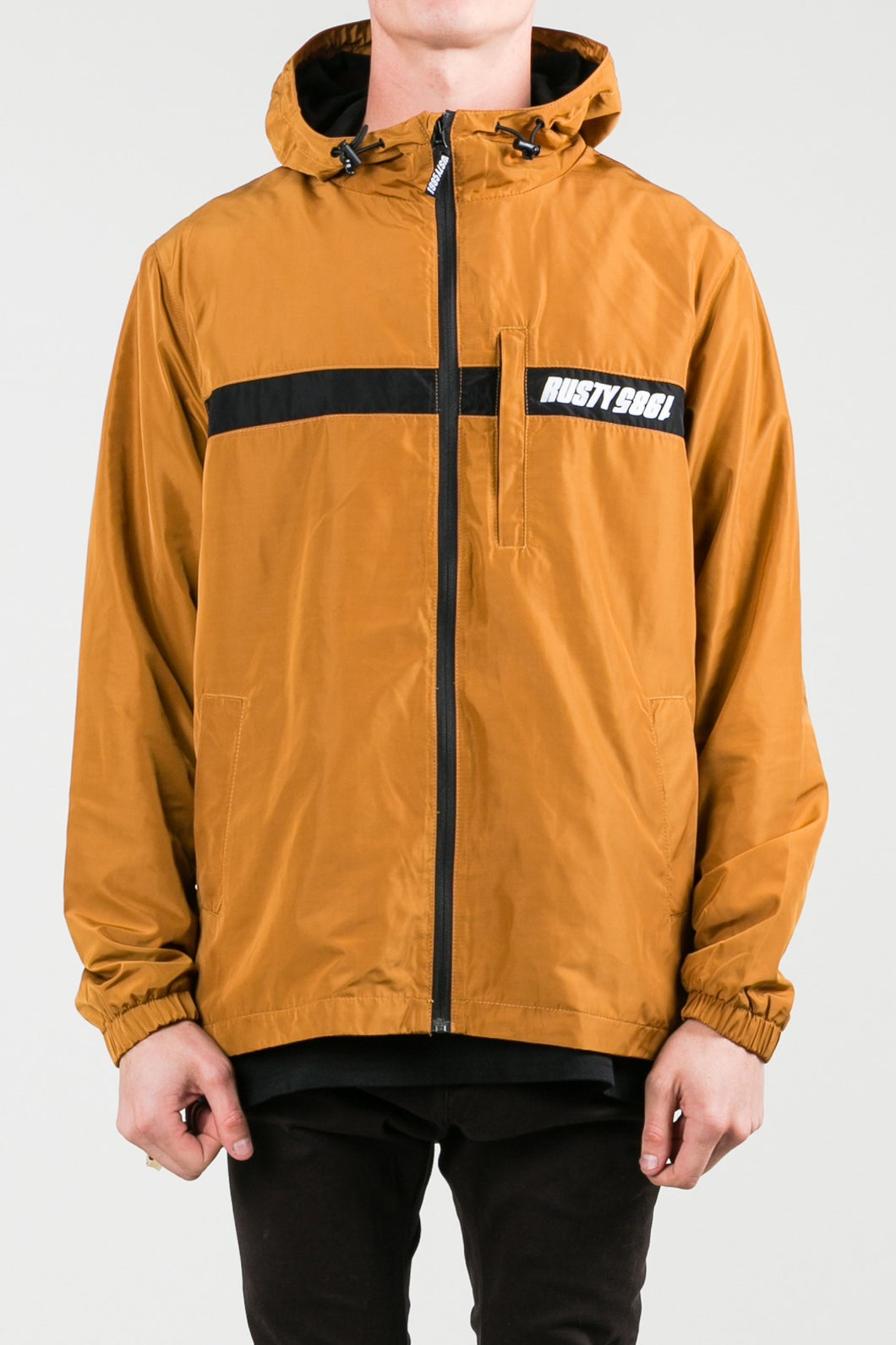 Rusty Men's Decades Hooded Jacket - Tobacco