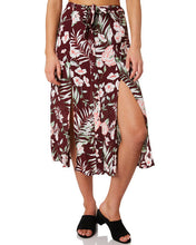 Load image into Gallery viewer, O'Neill Ladies Vine Midi Skirt - Merlot Floral