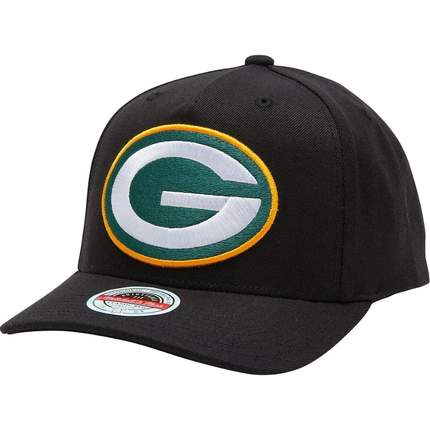 Mitchell & Ness Redline Green Bay Packers Hat - Black/Team Colour
