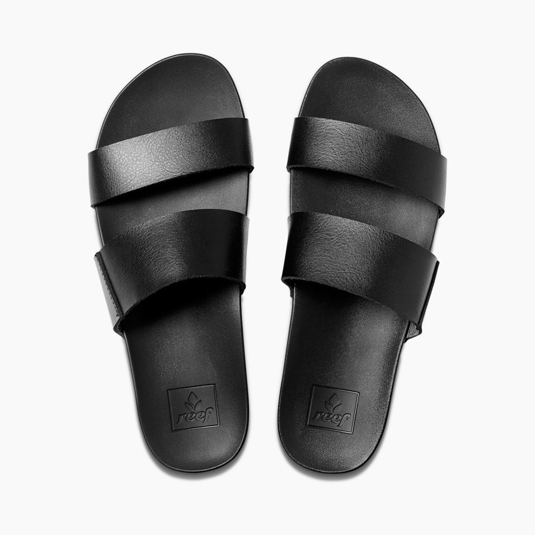 Reef Ladies Cushion Bounce Vista Slides - Black
