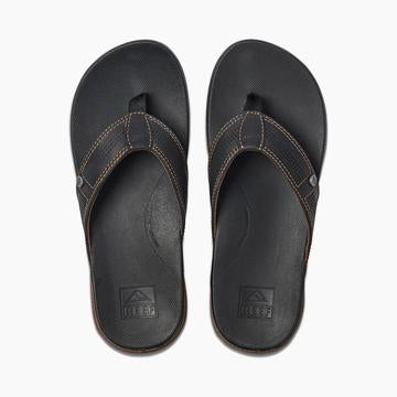 Reef Men's Cushion Bounce Lux Thongs - Black/Brown