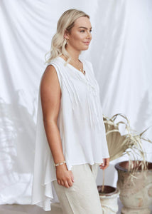 Salt & Soda Ladies Ravello Blouse - Crisp White