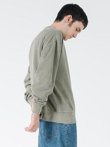 Thrills Men's Tonal Stacked Thrills Company Slouch Fit Crew - Desert