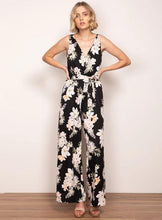 Load image into Gallery viewer, Wish Ladies Rosetta Golden Bloom Jumpsuit - Black