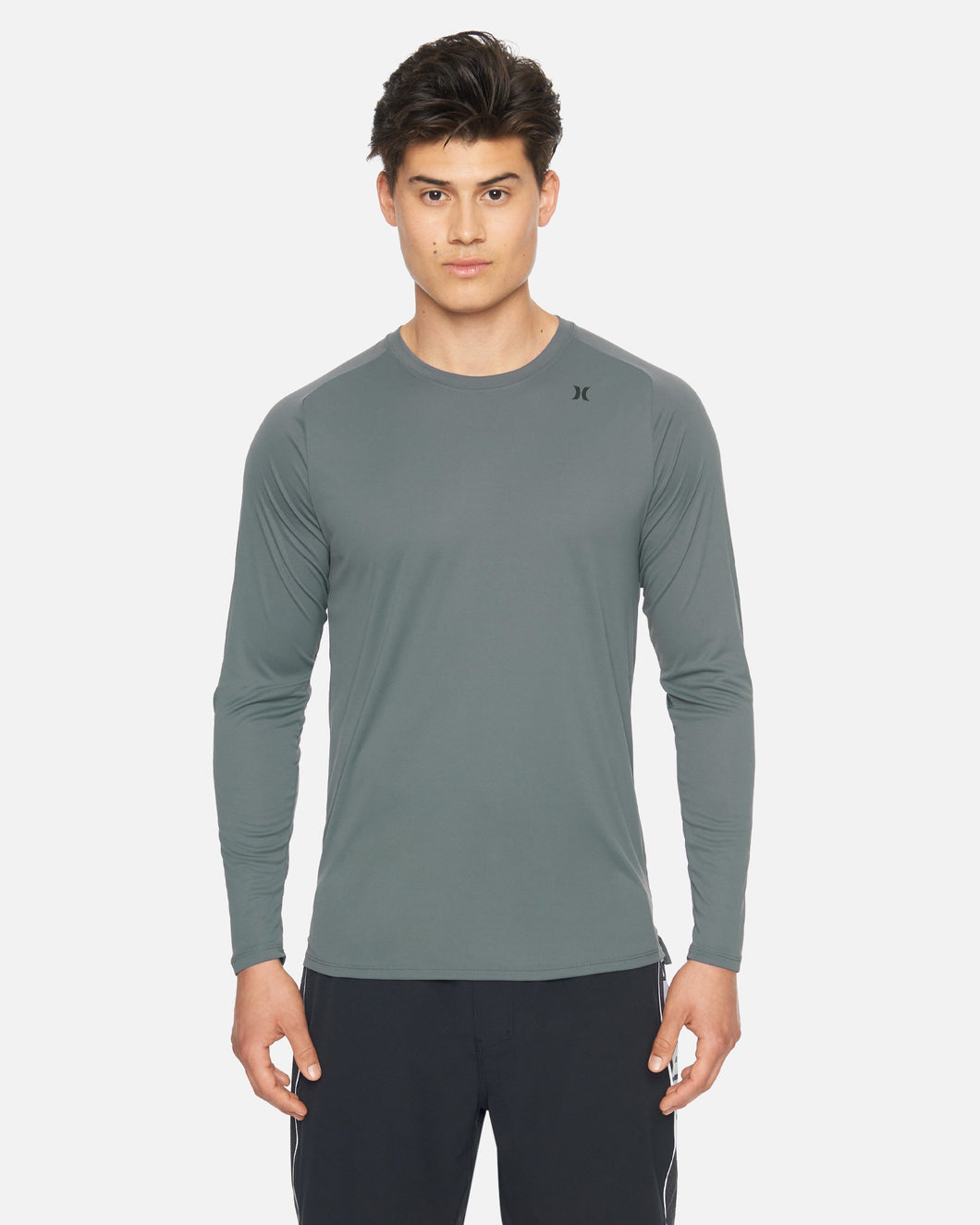 Hurley Men's Quick Dry L/S Rashie T-Shirt - Iron Grey