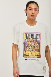 Mitchell & Ness Men's Cartoon Series Lakers - Vintage White