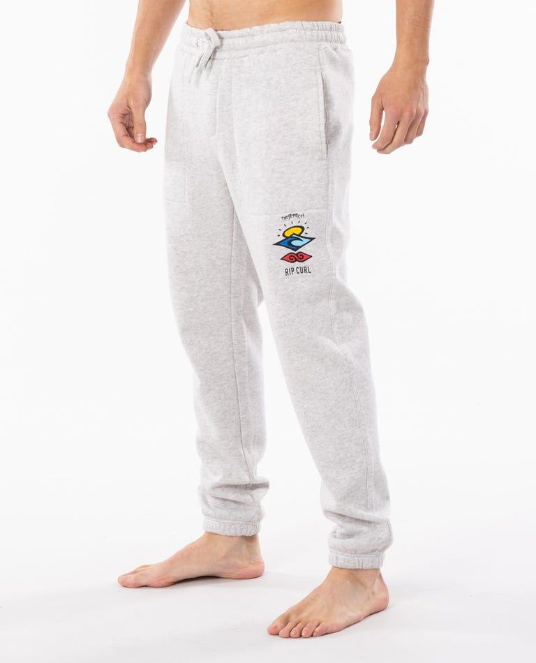 Ripcurl Men's Search Logo Trackpant - Light Grey Marle