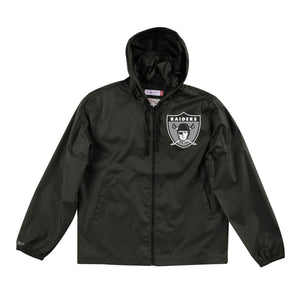 Mitchell & Ness Men's Team Captain Oakland Raiders Windbreaker - Black