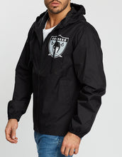 Load image into Gallery viewer, Mitchell & Ness Men's Team Captain Oakland Raiders Windbreaker - Black