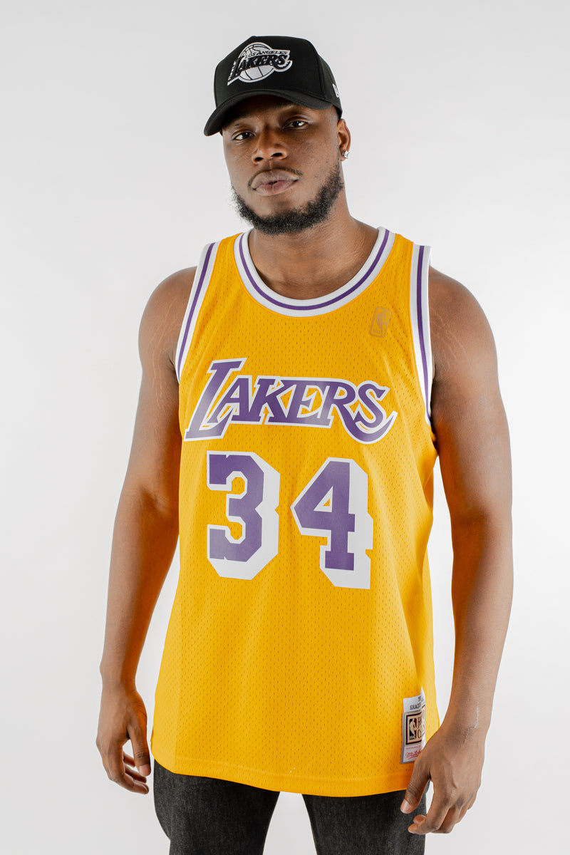 Mitchell & Ness Swingman Lakers O'NEAL 96-97 Home Jersey - Yellow