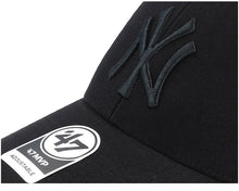 Load image into Gallery viewer, '47 Brand NY Yankees MVP DT Snapback Hat - Black/Black