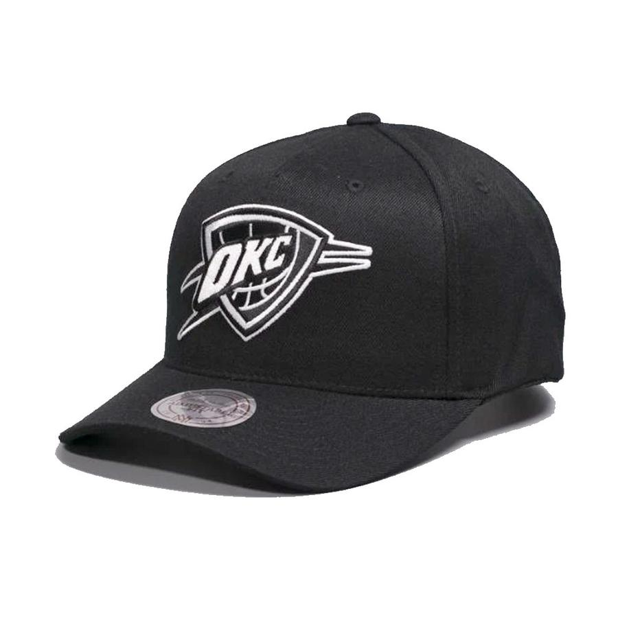 Mitchell & Ness Oklahoma City Thunder Black And White Logo 110 Snapback