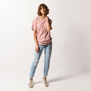 Status Anxiety Ladies Think It Over Tee - Pale Pink