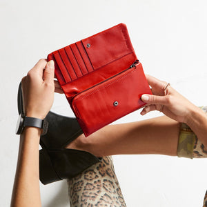 Status Anxiety Ladies Audrey Wallet - Red
