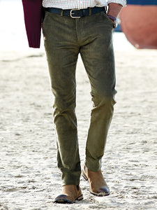 James Harper Olive Corduroy Chino Pants