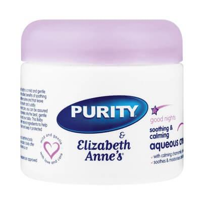 Purity & Elizabeth Annes Good Night Baby Aqueous Cream 325Ml