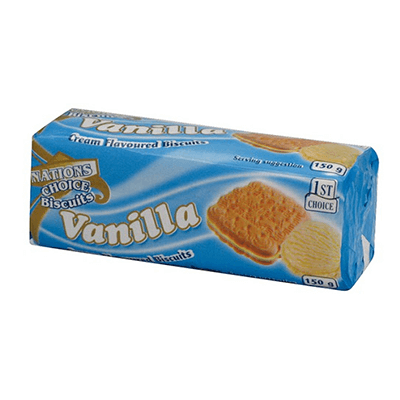 Nations Choice Vanilla Creams 140G Biscuits