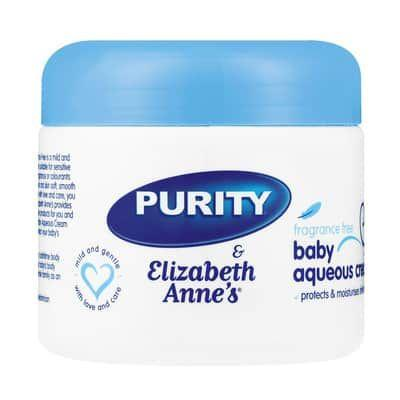 Purity & Elizabeth Anne's Fragrance Free Baby Aqueous Cream 350G