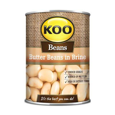 Koo Beans Butter Beans in Brine 410G