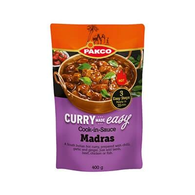 Pakco Curry Made Easy Cook In Sauce Madras 400G