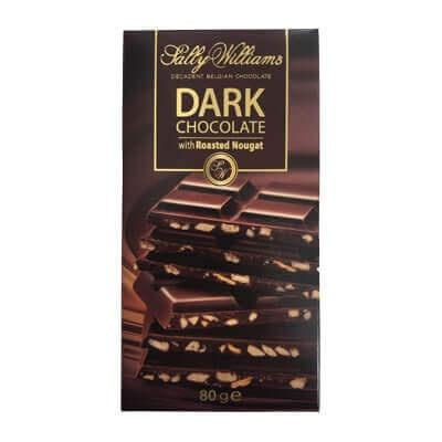 Sally Williams Dark Chocolate with Roasted Nougat 80G