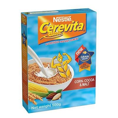 Nestle Cerevita Corn & Choco-Malt 500G