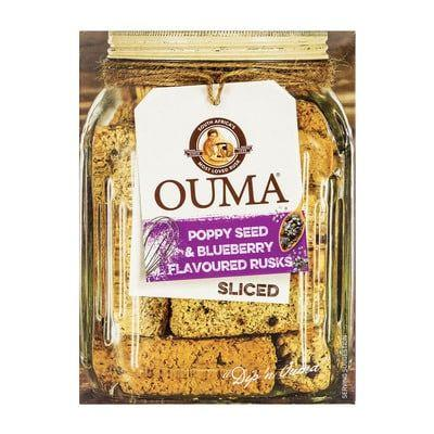Ouma Rusks Sliced Poppy Seed & Blueberry 450G [DISCONTINUED]