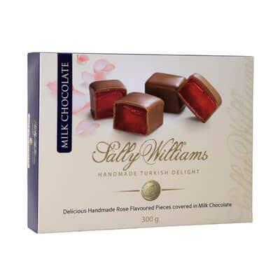 Sally Williams Turkish Delight Coated in Milk Chocolate 300G