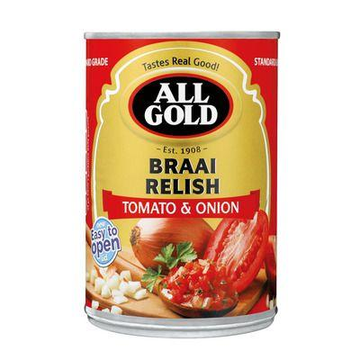 All Gold Braai Relish Tomato and Onion 410G