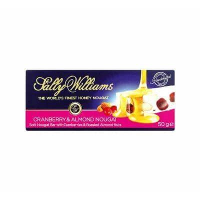 Sally Williams Nougat Cranberry and Almond 50G