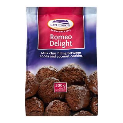 Cape Cookie Romeo Delight 500G Biscuits