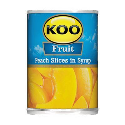 Koo Fruit Peach Slices in Syrup 410G