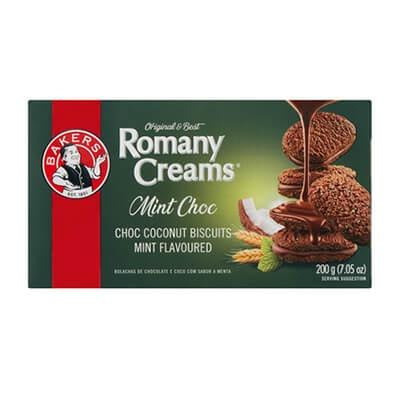 Bakers Romany Creams Mint Chocolate 200G