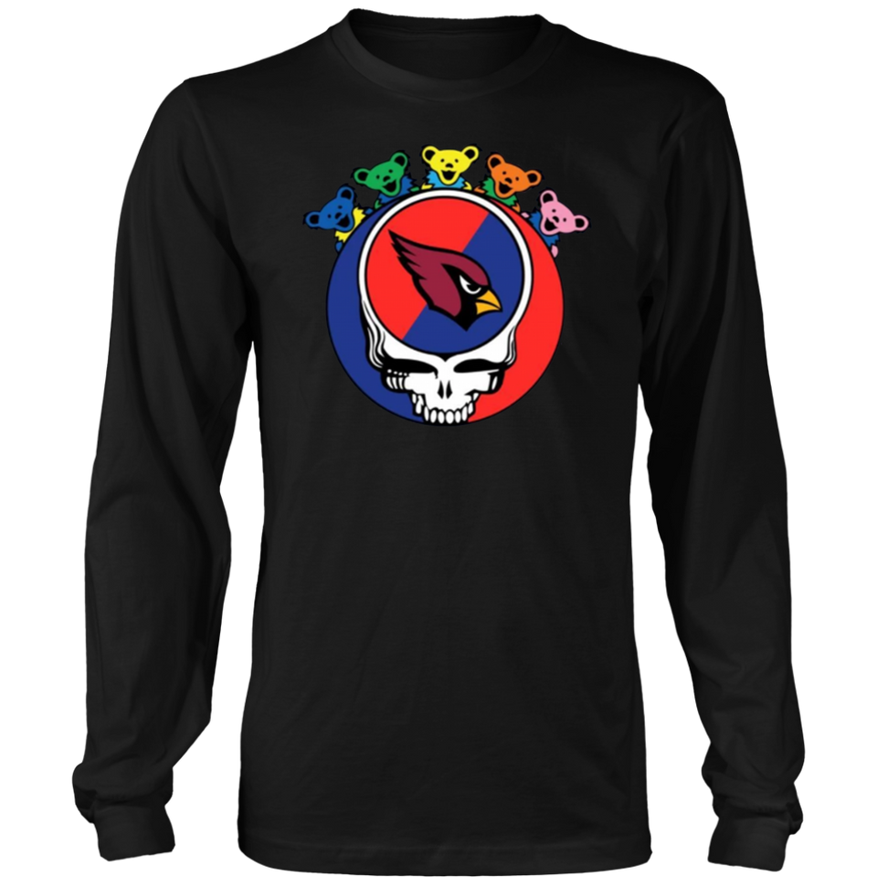 Grateful Dead Mixed With Arizona Cardinals T shirt Cool Gift For Fans