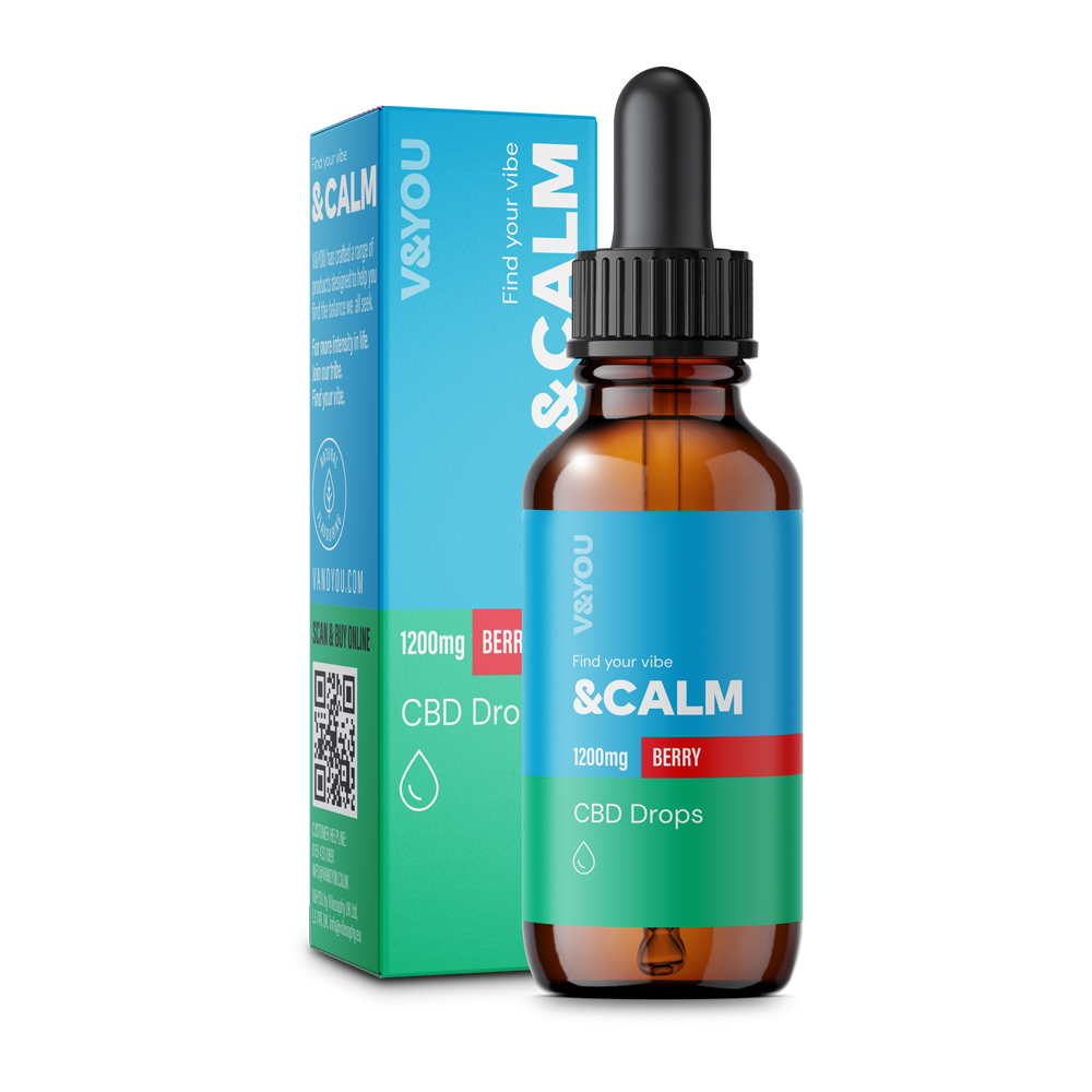 V&YOU &CALM CBD OIL DROPS BERRY – 30ML 1200MG