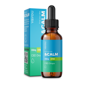 V&YOU &CALM CBD OIL DROPS CITRUS – 30ML 1200MG