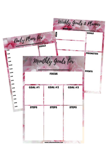 Goals and Planning Kit- Monthly, Weekly and Daily