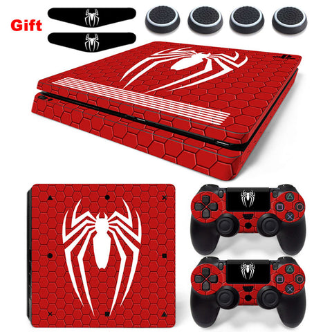 Spiderman Decal PlayStation 4 Slim Console