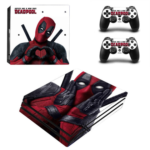 Deadpool Decal for Sony PS4 Pro Console