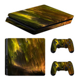 Wood Timber Console Decal For Playstation 4 Slim