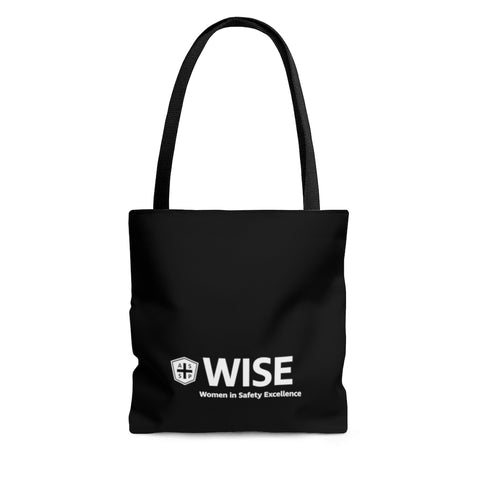 Tote Bag, Black (Asst Sizes) - WISE