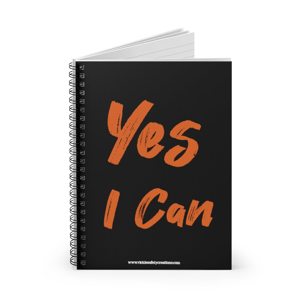 Spiral Notebook, Ruled Line - Yes I Can