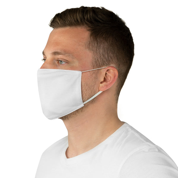 Fabric Face Mask - White, WISE Side Logo