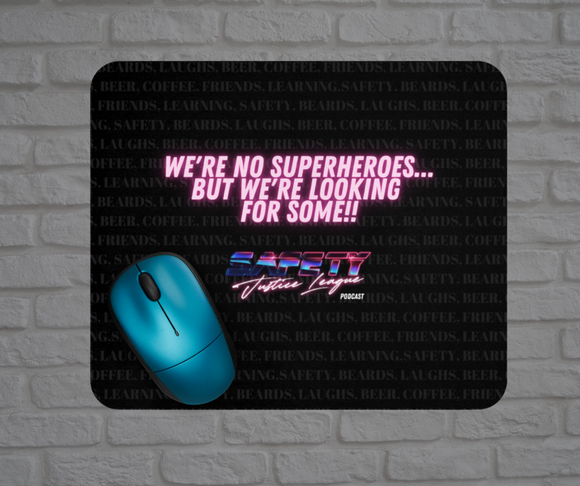 Fabric Mousepad - Safety Justice League