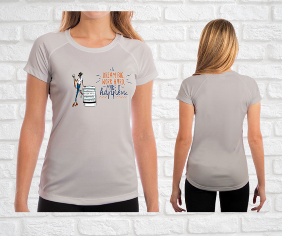 Yes I Can Be a HVAC Technician Ladies Fit T-Shirt