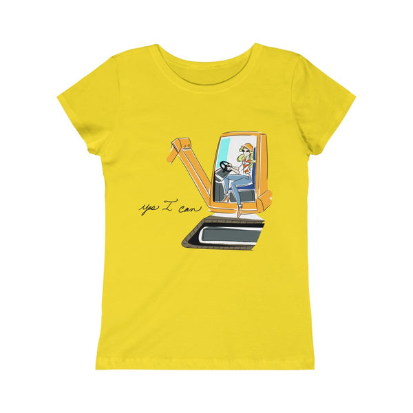 Kids Princess Tee (Asst Colors) - Yes I can, Heavy Equipment Operator