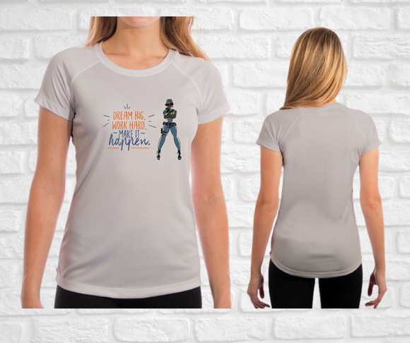 Yes I Can Be a Police Officer Ladies Fit T-Shirt